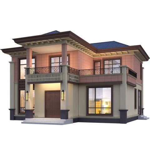 占地13*13,新款经济型中式别墅带堂屋-全套设计图纸