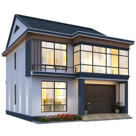 占地:9*12,小户型现代风格两层楼房全套设计图纸