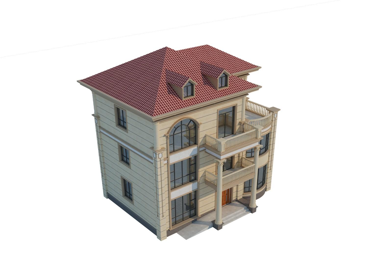 """欧式三层别墅设计图"""""""