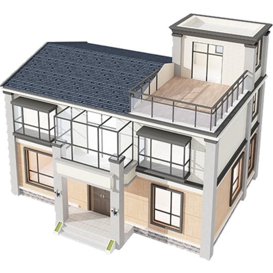 占地12*10,两层现代风格乡村别墅全套设计图纸