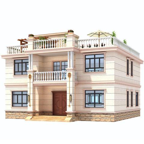 占地13*14,2021新款二层简欧自建房全套设计图纸