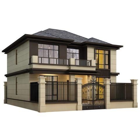 占地11*11,两层新中式经济实用型别墅-全套设计图纸