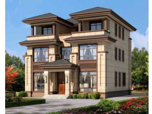 三层新中式高端农村住宅设计图纸