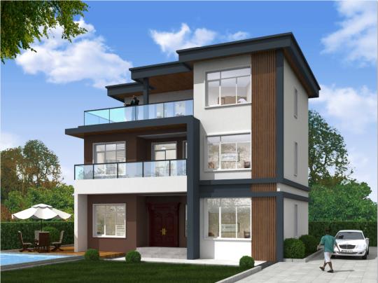 三层现代简约风格别墅全套设计图纸