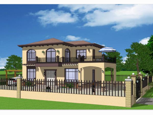 两层简欧庭院别墅-全套设计图纸