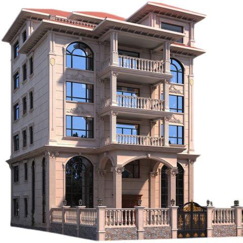 自建房屋别墅设计图纸六层欧式豪华大气洋房新农村全套施工建筑图