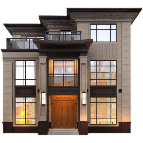 新农村三层别墅设计图纸带阳台网红房屋设计自建房洋房豪华可定制