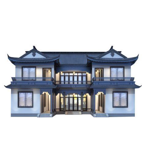 新农村网红二层别墅两层中式豪宅别墅设计图纸自建房设计图可定制