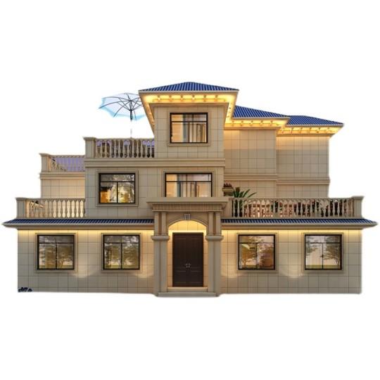 农村自建房设计图房屋设计效果图欧式三层豪华别墅设计图纸施工图