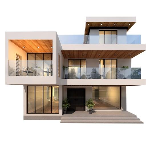 占地12×11现代三层别墅,精美造型让人惊叹不已!
