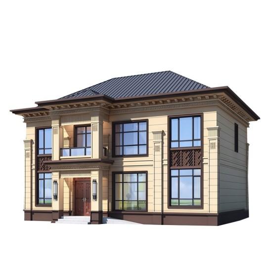 新款农村自建房二层新中式别墅设计图纸房屋设计效果图