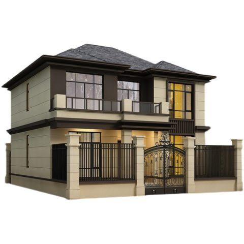 二层别墅设计图纸农村新中式简约自建房设计图效果图施工图代画
