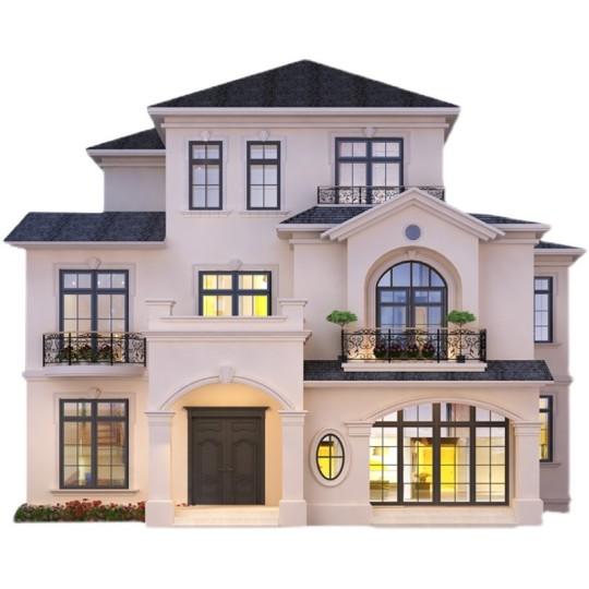 新款二层半欧式农村自建房屋豪华网红别墅设计图纸效果图