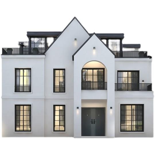 二层半农村自建房田园风房屋设计别墅设计图纸施工图效果图制作