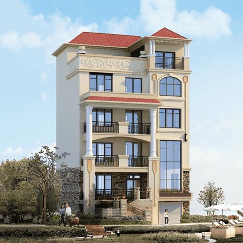 欧式五层以上别墅设计图效果图