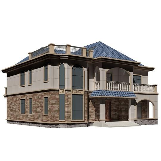 二层小洋楼别墅设计图纸全套大户型豪华大气复式楼农村自建房2226