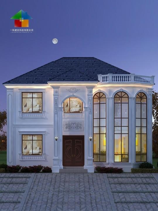 农村二层简单自建房设计图纸欧式两层别墅小洋楼盖房2层新款2229