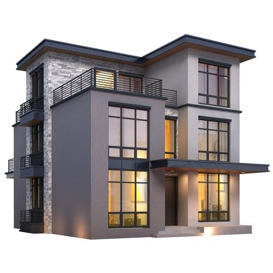 新农村别墅设计图纸三层小洋楼现代风格豪华自建房楼房全包建3273