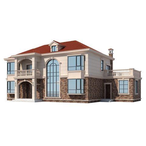 网红二层楼别墅农村盖房楼房乡村欧式自建房豪华大气房屋洋房2205