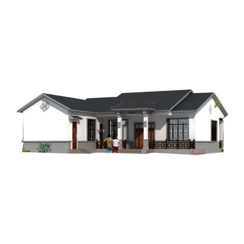 YS108占地16X20新中式风格农村自建别墅,低调奢华