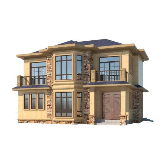 YS204-7占地12X14简约欧式风格二层农村自建别墅