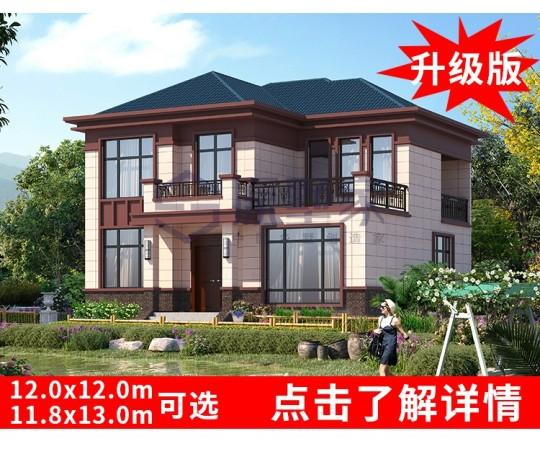 YS216-2占地12X10二层农村自建别墅