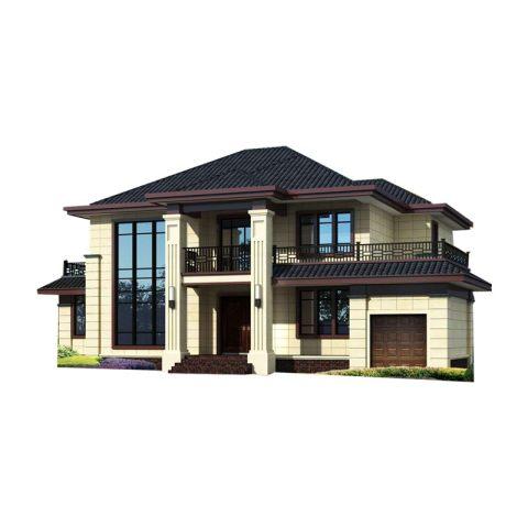 YS218占地20X13新中式二层农村自建别墅
