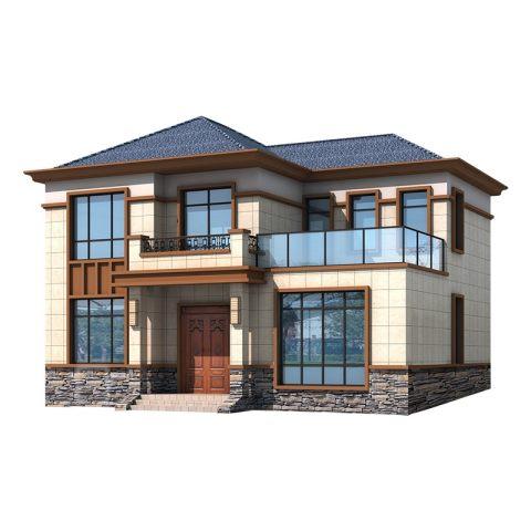 YS216-3占地12X10二层农村自建别墅