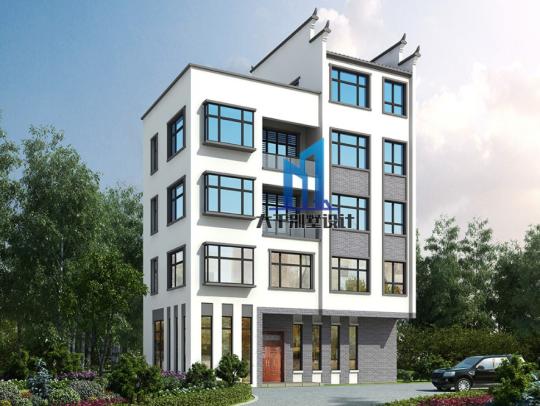 五层新中式别墅
