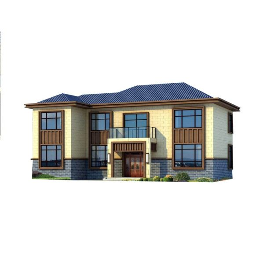 新中式两层别墅-带柴火房 堂屋设计