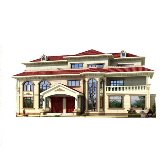 三层欧式双拼乡村自建别墅全套设计图纸