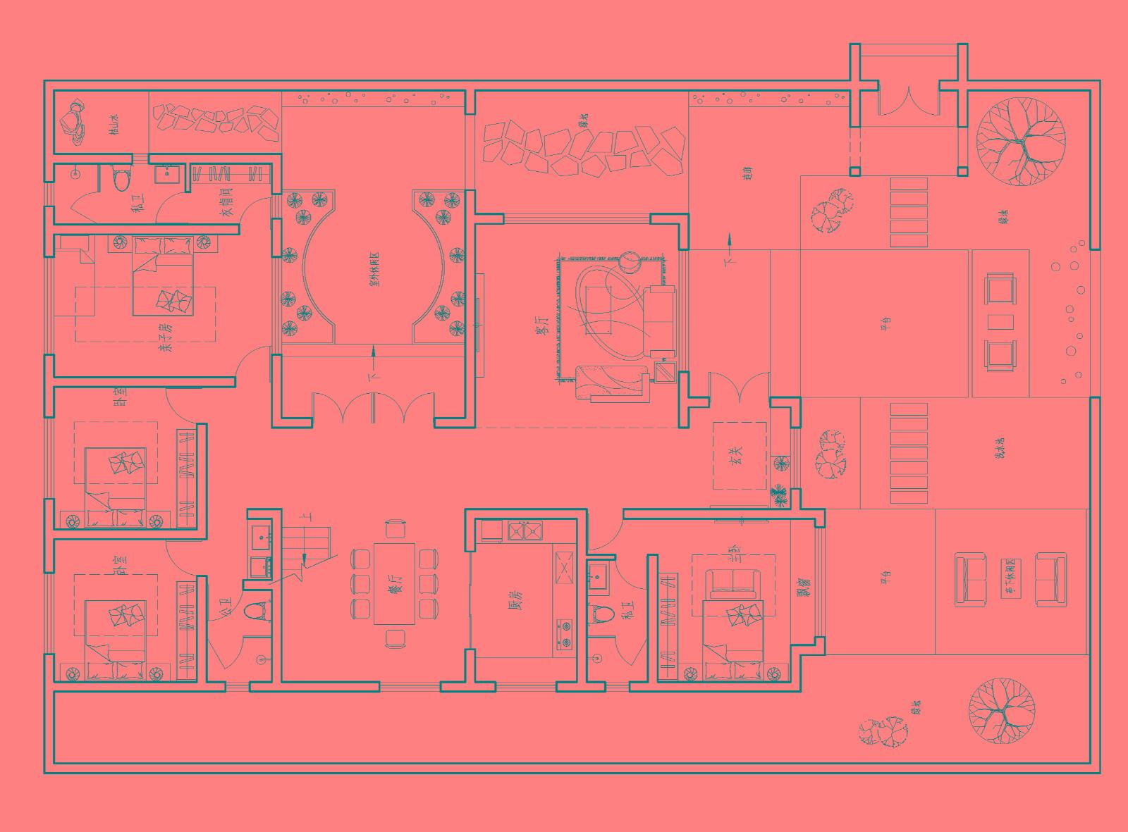 8室3厅新中式徽派庭院