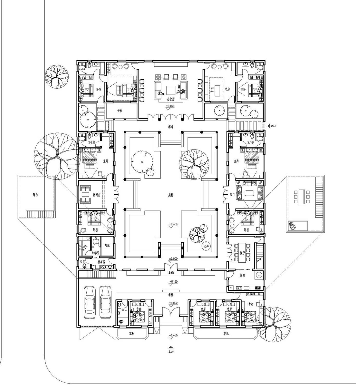 古典东方园林-四合院