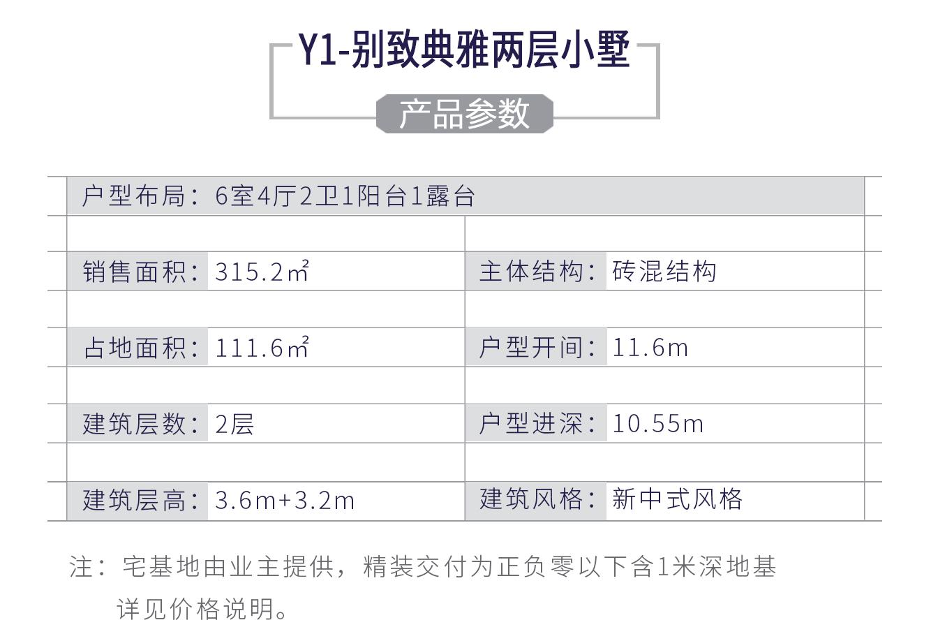 Y1 - 别致典雅两层小别墅(精装交付)