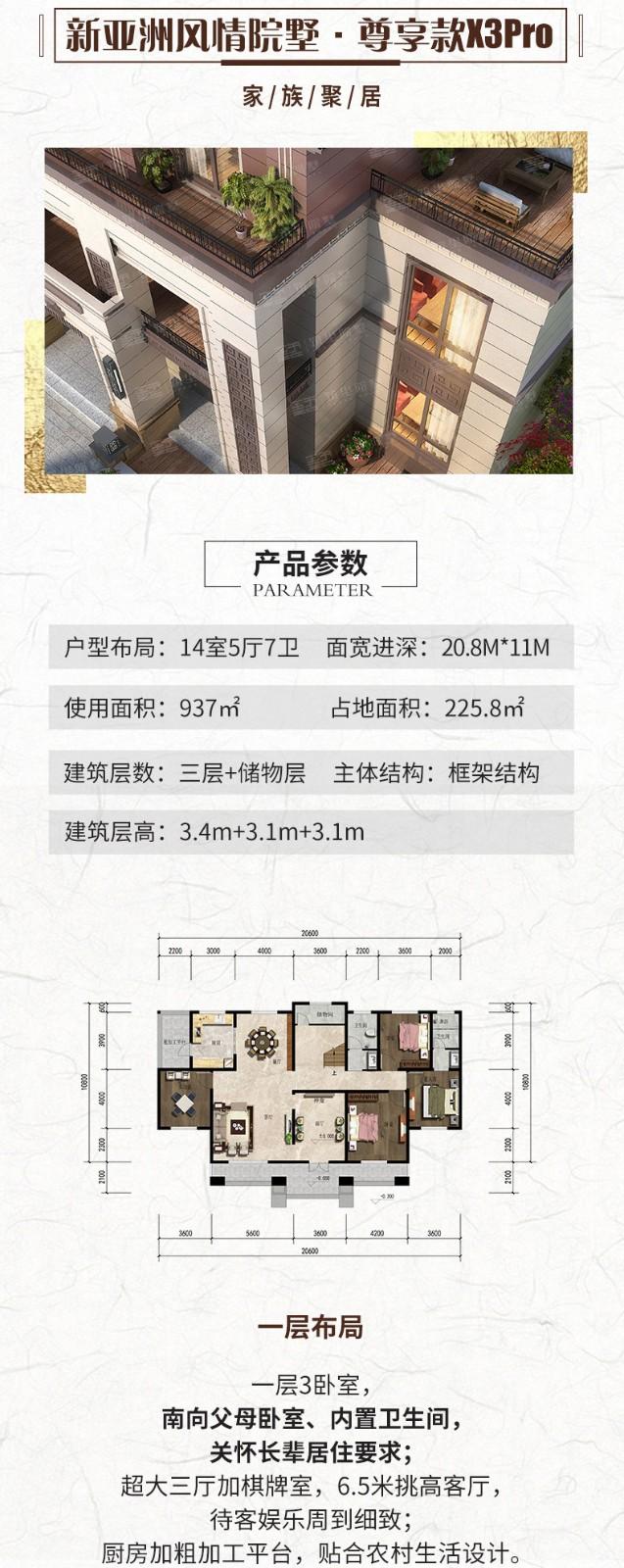 新亚洲风情院墅系列·尊享款X3Pro