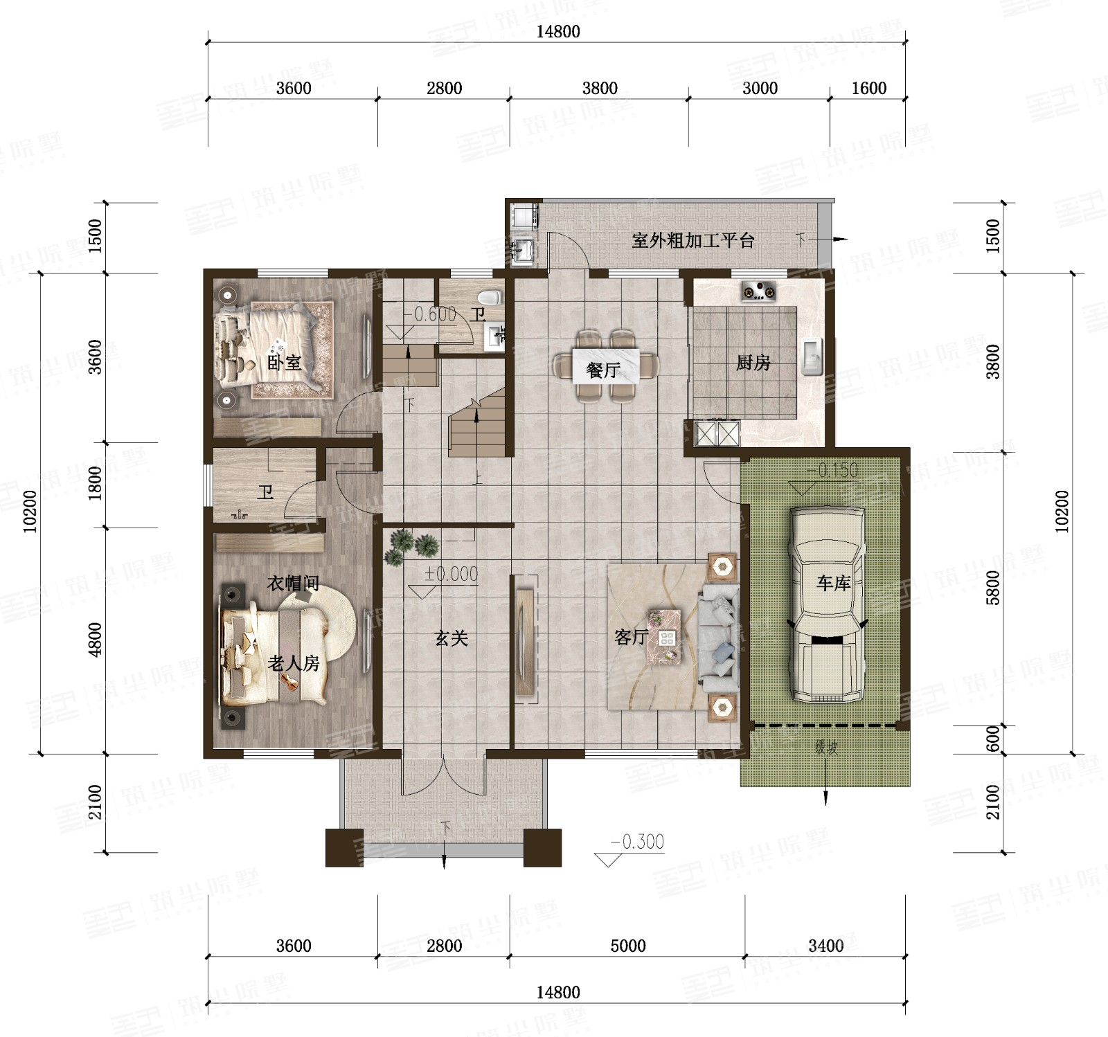 新亚洲风情院墅系列·豪华款X2