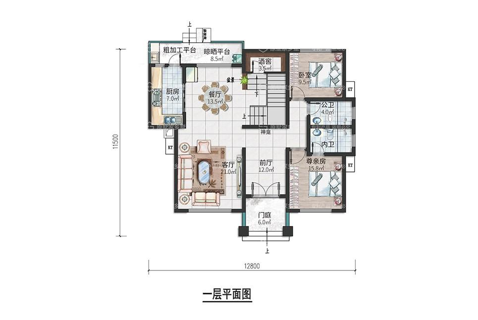 Y1-两层农村自建别墅带酒窖【2020款】