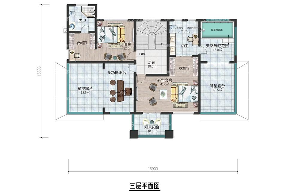 S6【2021款】三层新农村别墅带花园露台(精装交付)