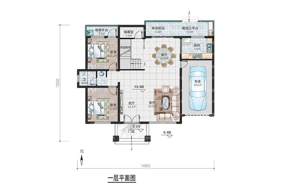 Y4(2020二层款)占地142平方米带车库